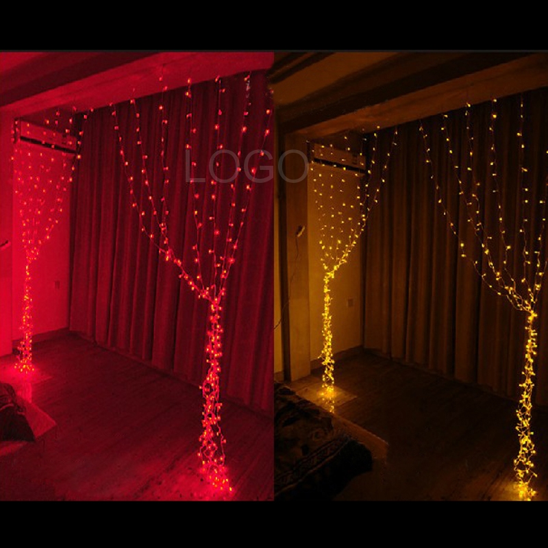 Super Festive Decoration 2x2m LED Indoor Outdoor Net String Light Lamp Bulbs