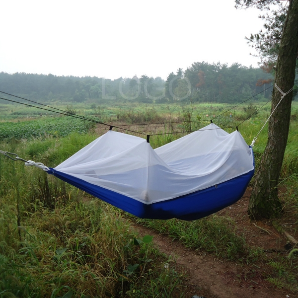 Parachute Fabric Hammock Hanging Bed With Mosquito Net For
