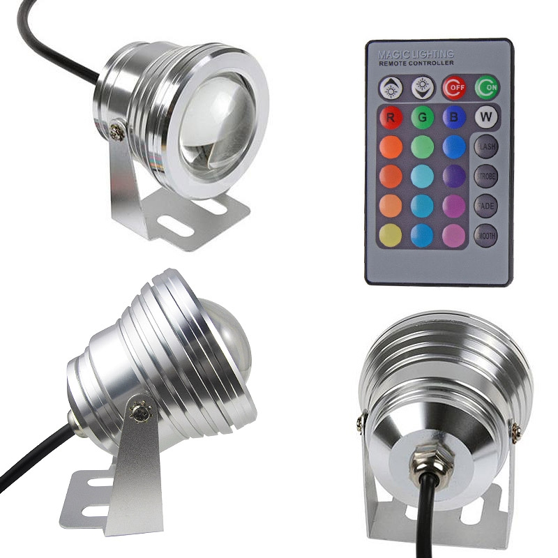 12v 10w underwater led flood wash pool waterproof light spot lamp 1 2m outdoor ebay. Black Bedroom Furniture Sets. Home Design Ideas