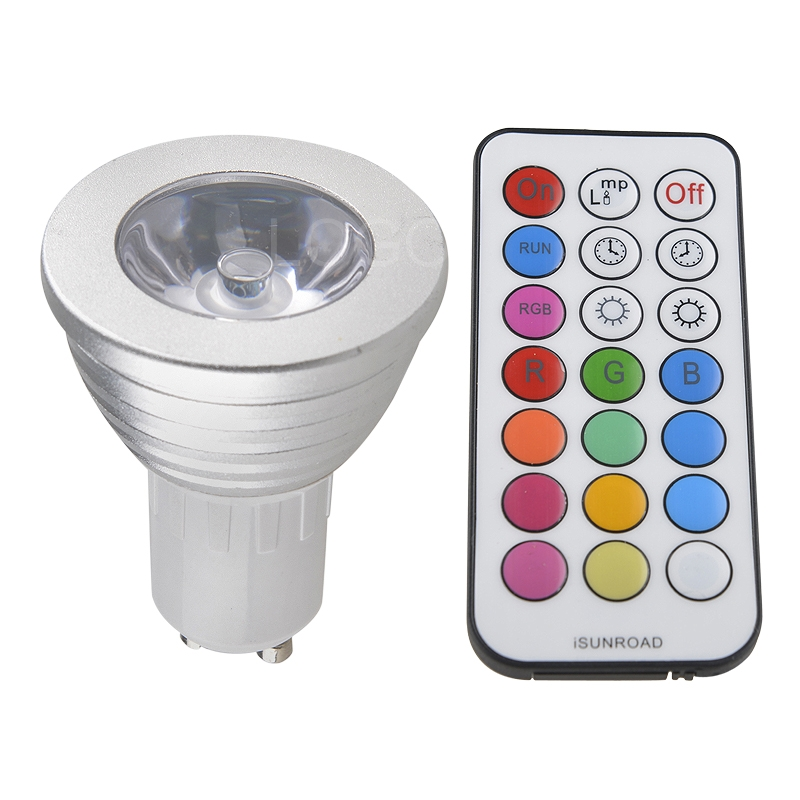 durable e27 mr16 gu10 rgb led bulb lamp spot light multicolor remote control 3w ebay. Black Bedroom Furniture Sets. Home Design Ideas