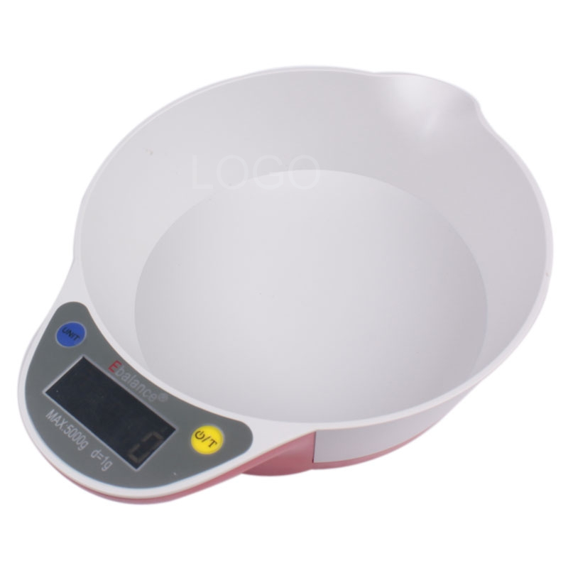 5kg Kitchen Weight Scale Food Balance Electronic Kitchen Bowl Shaped Scale