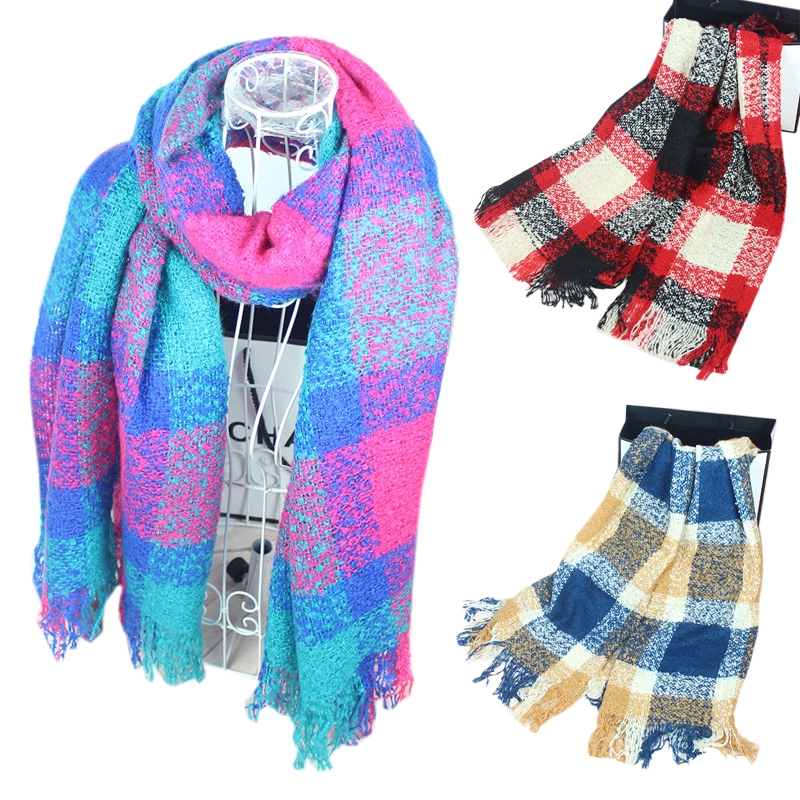 Women Widen Long Scarf Autumn Winter Warm Keeping Imitation Wool Wraps