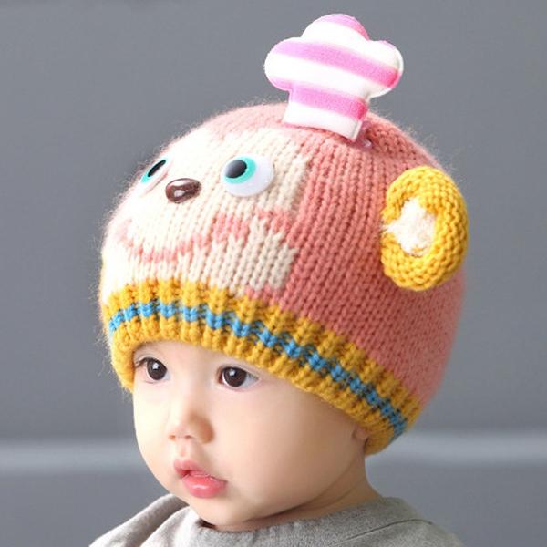 Crochet Baby Chef Hat Pattern Free : Baby Kids Super Cute Monkey Chef Pattern Cap Woolen ...