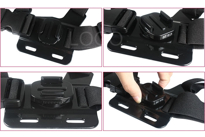 Gopro Accessories Helmet Harness Chest Belt Head Mount Strap for Hero 3/2
