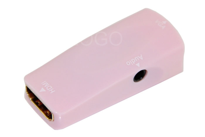 Mini Portable HDMI Female to VGA and Audio Adapter for HDTV / Monitor