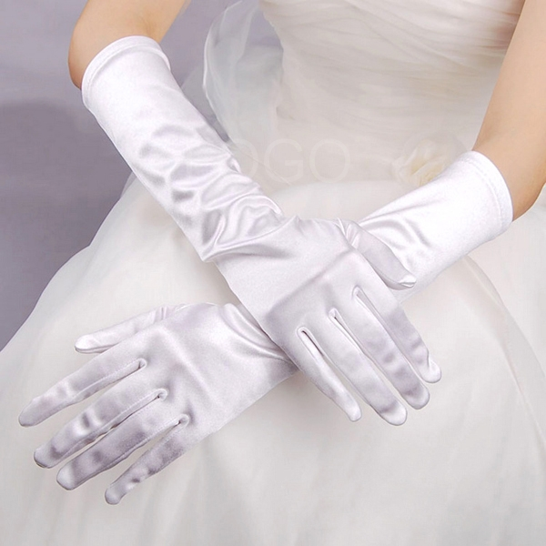 Fashion Pure Color Women Ladies Gloves in Wedding Partiy Bridal Long Gloves