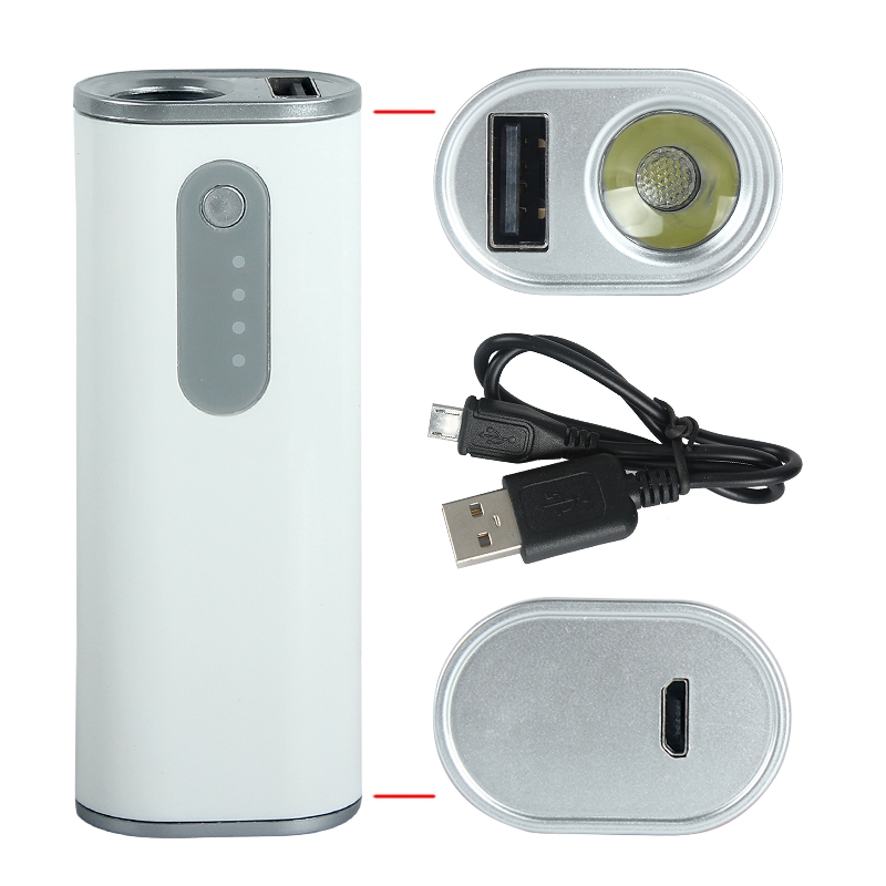 battery portable mini 2600mah power bank mobile phone charger with flashlight ebay. Black Bedroom Furniture Sets. Home Design Ideas