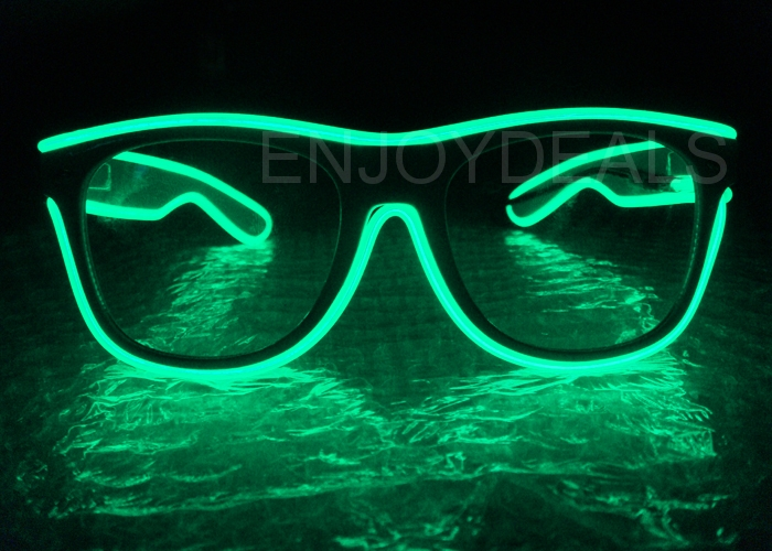 Special Shutter Light Up EL Wire Glow Shades Party Bar Eye-wear Glasses