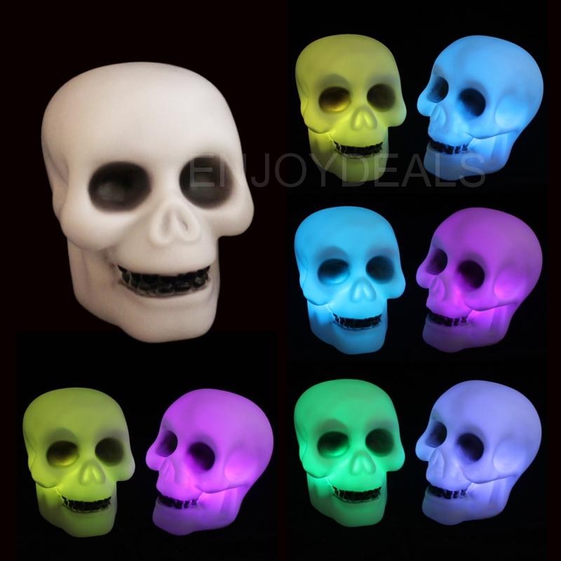 Changable Color LED Night-Light Lamp 7 Colors Changing Nightlight Skull