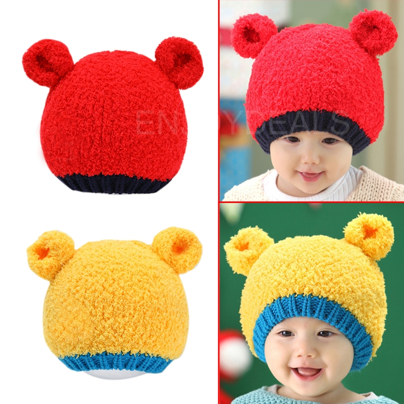 New Cute Baby Kids Warm Winter Autumn Warm Hat Earflap Cap Head Warmer