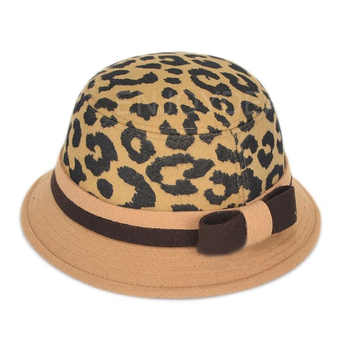 New Cute Baby Kids Winter Autumn Hat Flanging Cap with Leopard Pattern
