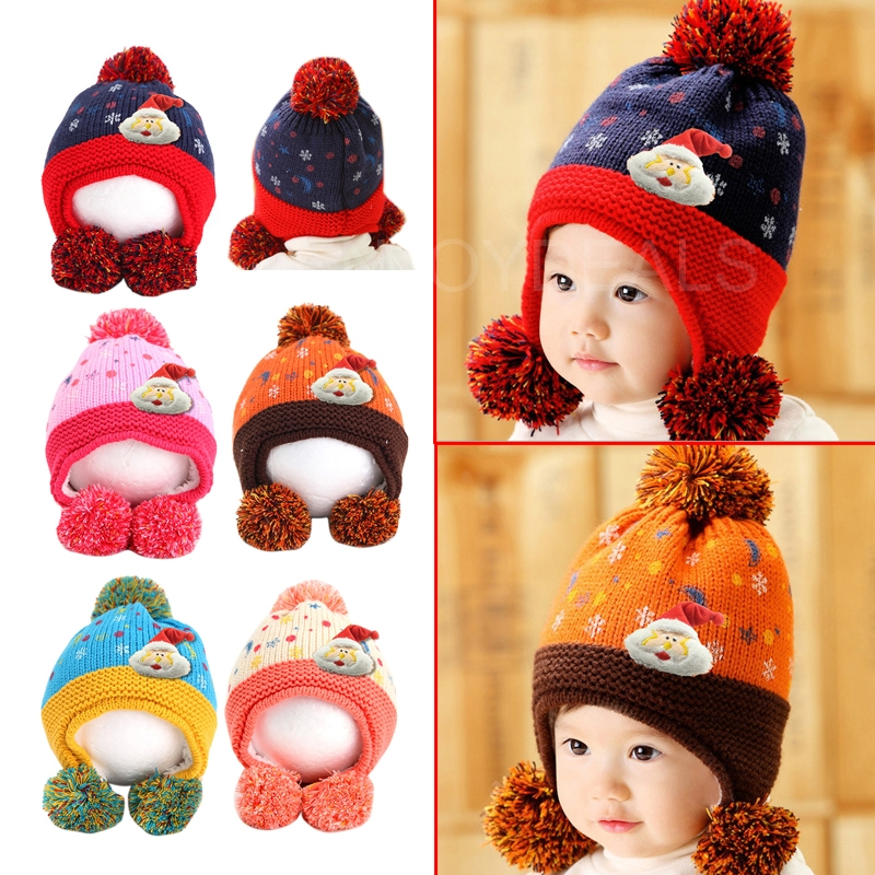 Fashion Cute Baby Kids Winter Autumn War Hat Earflap Cap Head Warmer