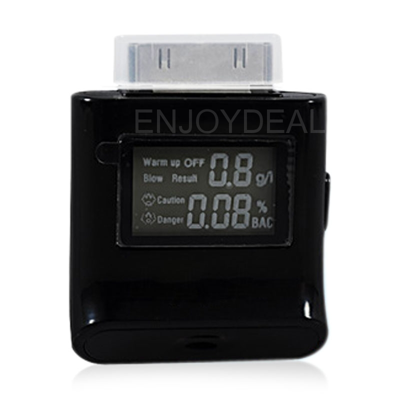Alcohol LCD Digital Tester Analyzer Breath Breathalyzer For iPhone 4/4S