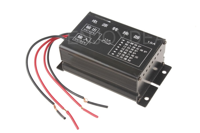 DC 24V to 12V Car Motor Power Converter Step Down Regulator 10A/15A