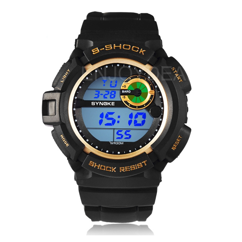 Men's Classic Waterproof Outdoor Sport Backlight Digital Sport Wrist Watch