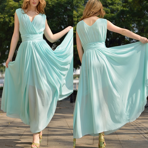 Women�s Elegance Sweet Long Chiffon Bridesmaid Formal Gown Evening Party