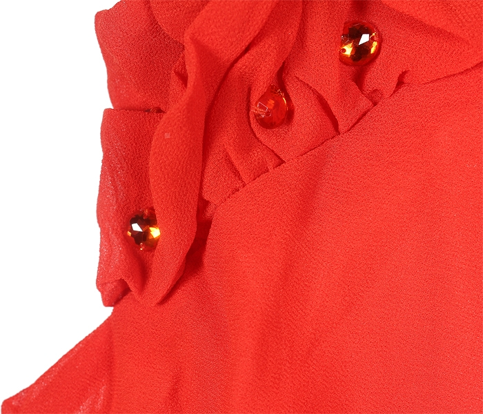 Women�s Sleeveless Chiffon Ruffle Dress Club Wear Party Evening Dress