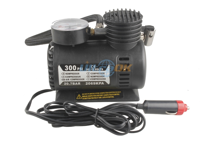 12V 300PSI Portable Auto Electric Car Pump Air Compressor Tire Inflator Too