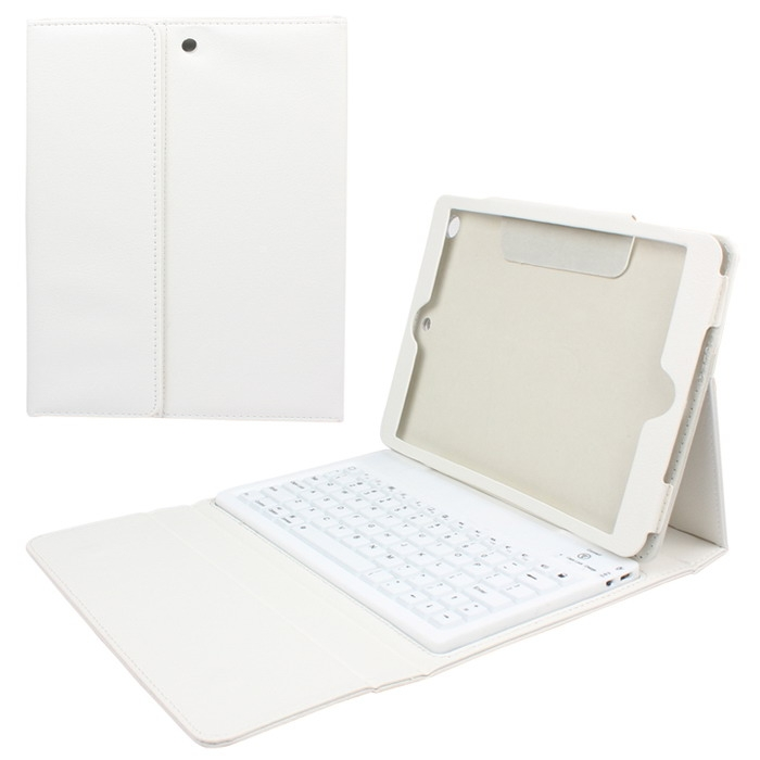 Wireless Bluetooth Keyboard Protective Folding Leather Case Cover for iPad5