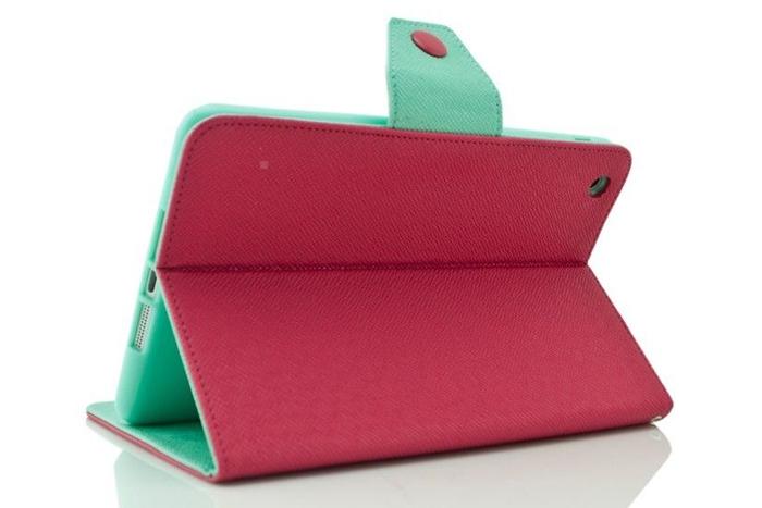 Fashion Magnetic PU Leather Folio Stand Case Cover for Apple iPad-Mini