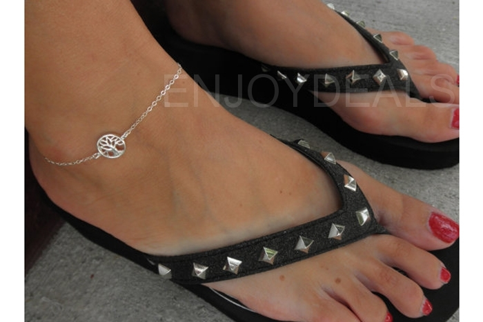 Women Elegant Sexy Anklet Foot Chain Ankle Bracelet Charm Sandal Jewelry