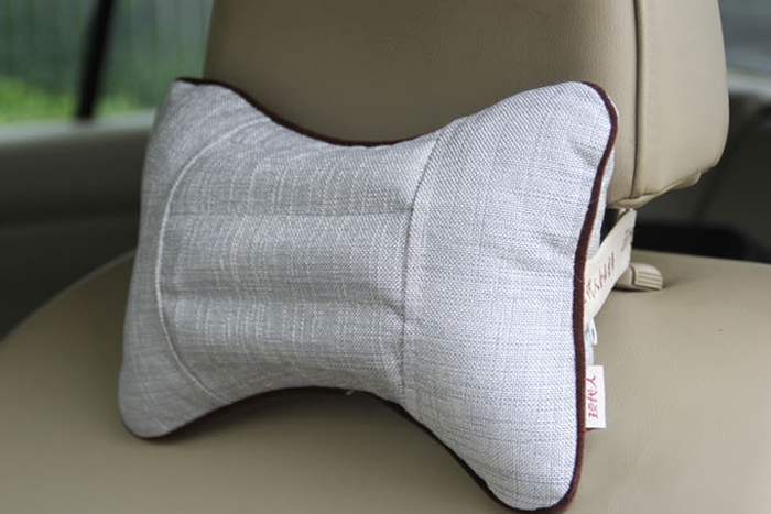 New 1Pair Car Auto Head Neck Rest Pillow Head Restraint Pillow Flax Pillow