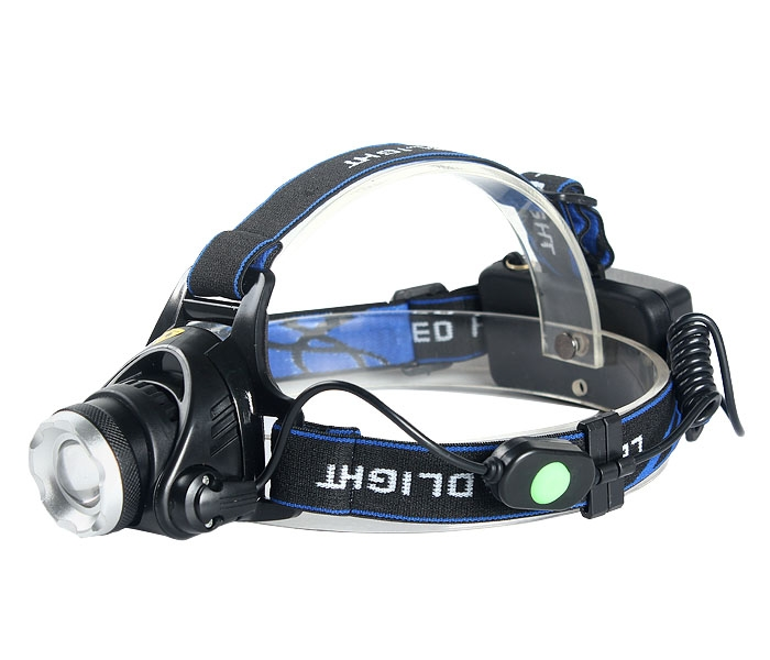 2000LM CREE XML T6 LED Zoomable Headlamp Headlight Torch 2x18650+EU Charger