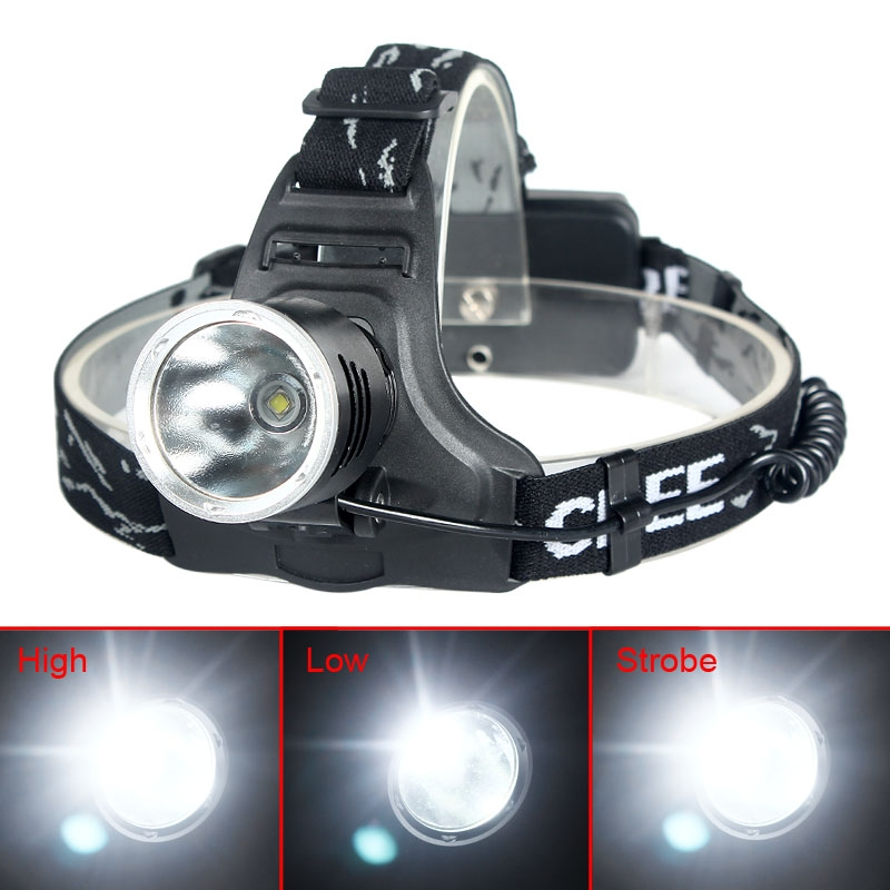 2000 Lumens CREE XM-L T6 LED 3 Modes Headlamp Head Light Torch + EU Charger