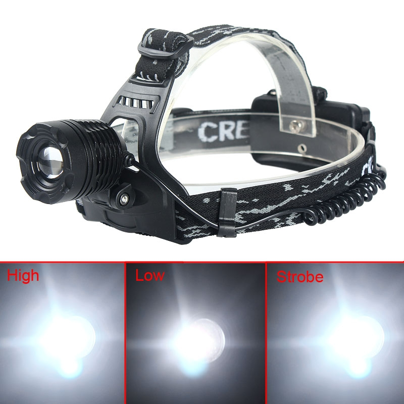 2000LM CREE XML T6 LED Headlamp Headlight Rechargeable Light Lamp+EU Charge
