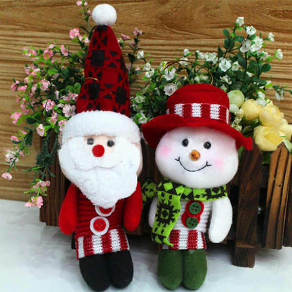 Handmade Christmas Ornaments Santa Clause/Snowman Pendant Party Gift Decos