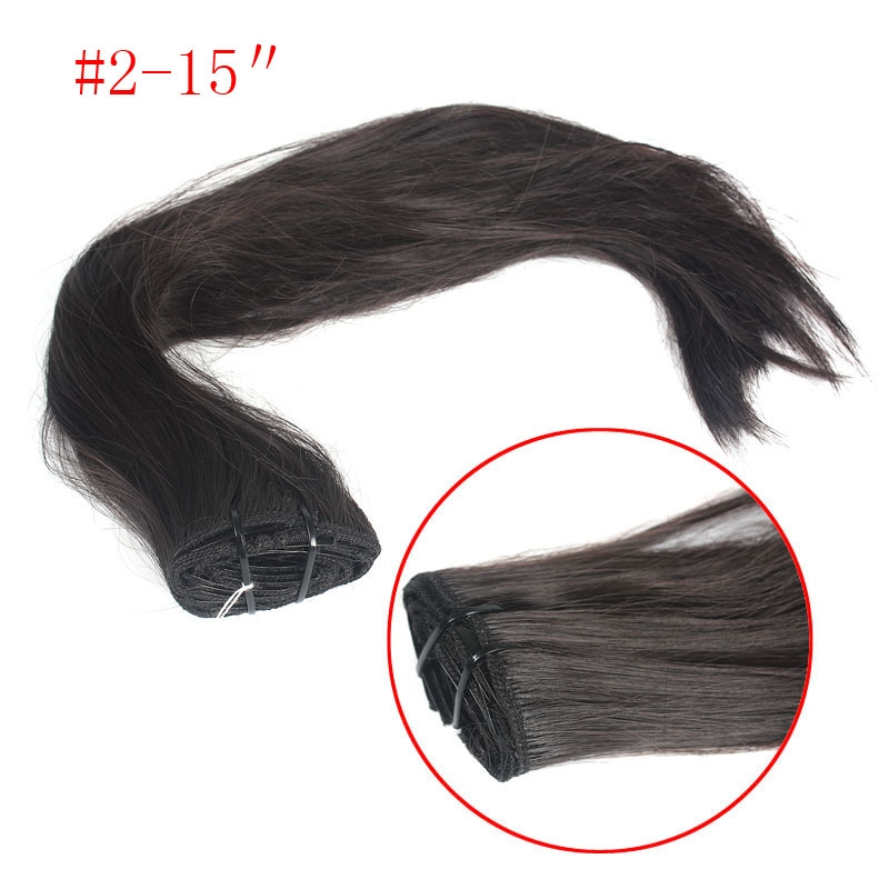 New Fashion Women�s Long Straight Hair Piece Clip-on Half Wig Multicolor