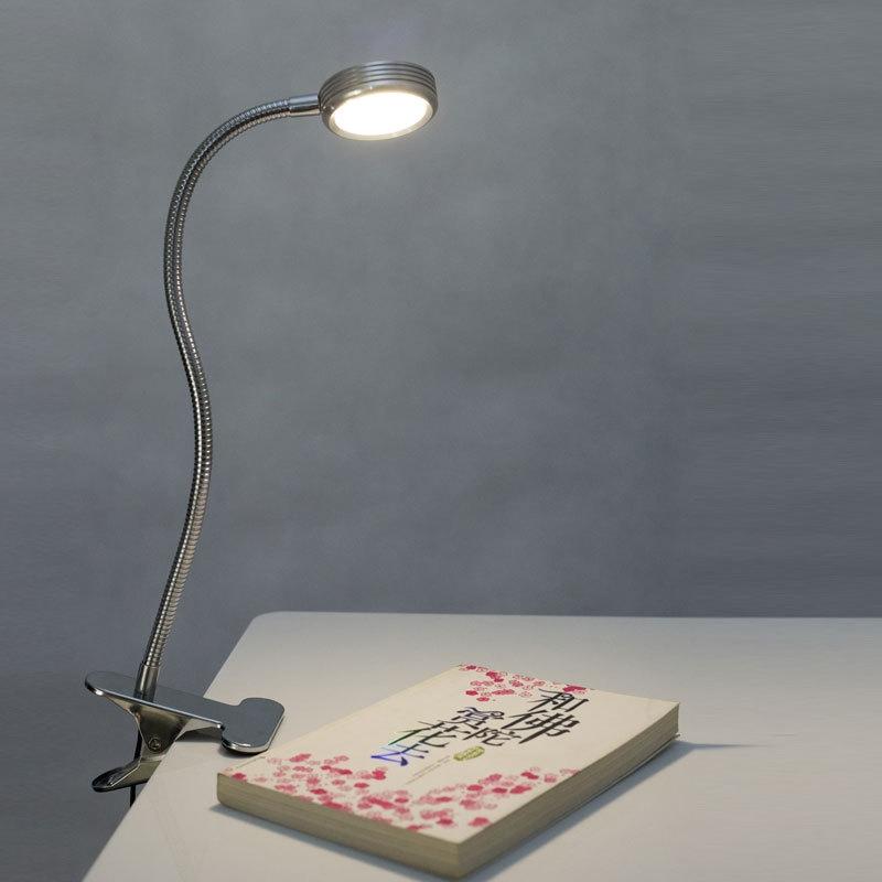usb 5w led light desktop reading study clip on table desk lamp. Black Bedroom Furniture Sets. Home Design Ideas