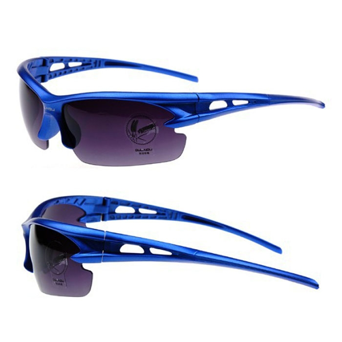 Bicycle Polarized Cycling Glasses Sports Sunglasses Anti-explosion Blue