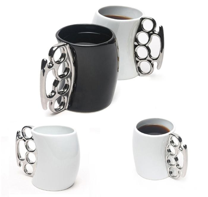 Creative Fist Cup Brass Knuckle Duster Handle Cup Coffee Milk Ceramic Mug