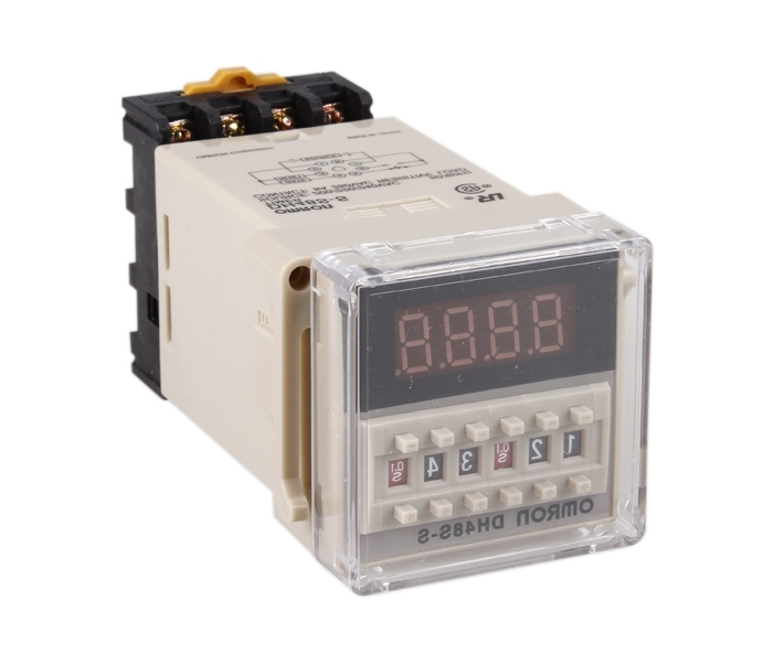 New 0.1s-99h Programmable Digital Timer Double Time Delay Relay AC 220V