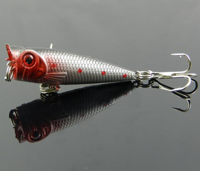 Cool Lot 5pcs Popper Hard Fishing Lure Top Water Rattles
