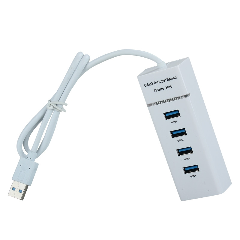 Portable 4 Ports USB 3.0 HUB Super Speed Plug-Play For Your PC Notebook