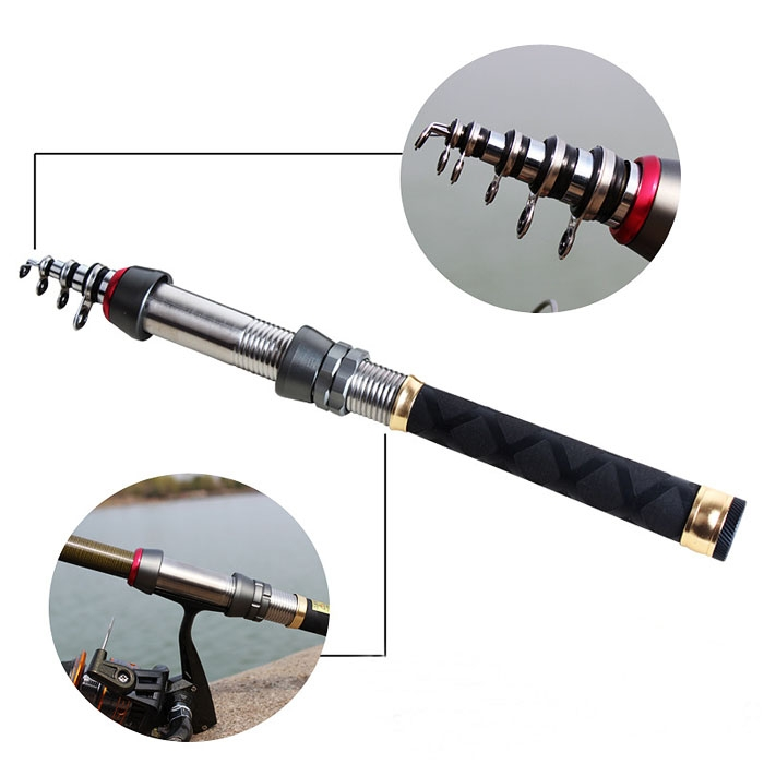 Well portable ultra light carbon fishing rod telescopic for Best ultralight fishing rod