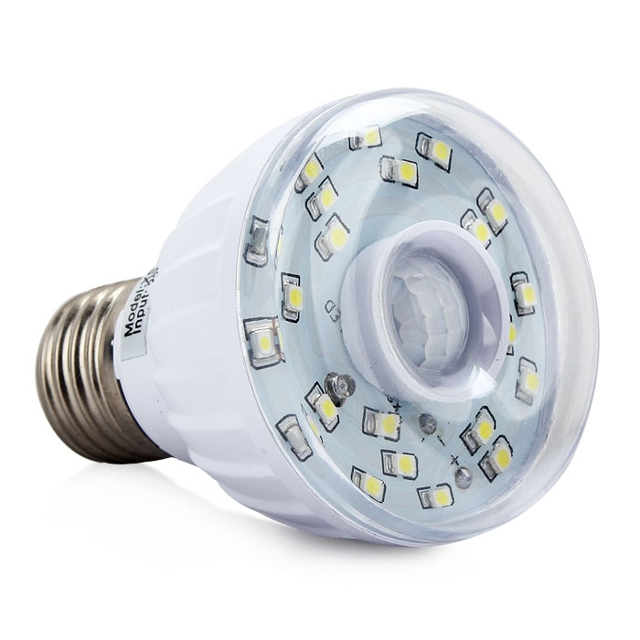 3w e27 xs 001 human body far infrared sensor led light automatic lamp bulb. Black Bedroom Furniture Sets. Home Design Ideas