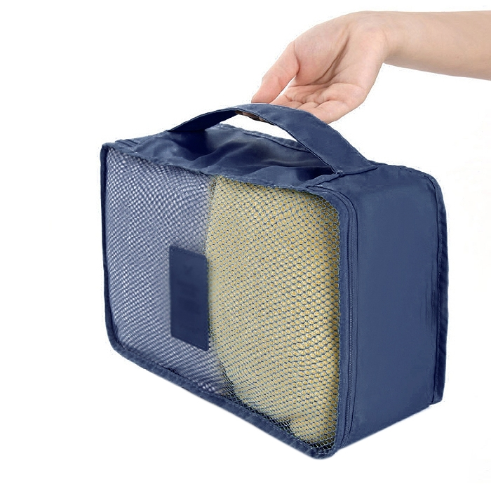 Portable Travel Shirt Laundry Pouchl Clothes Organizer Storage Bag Navy