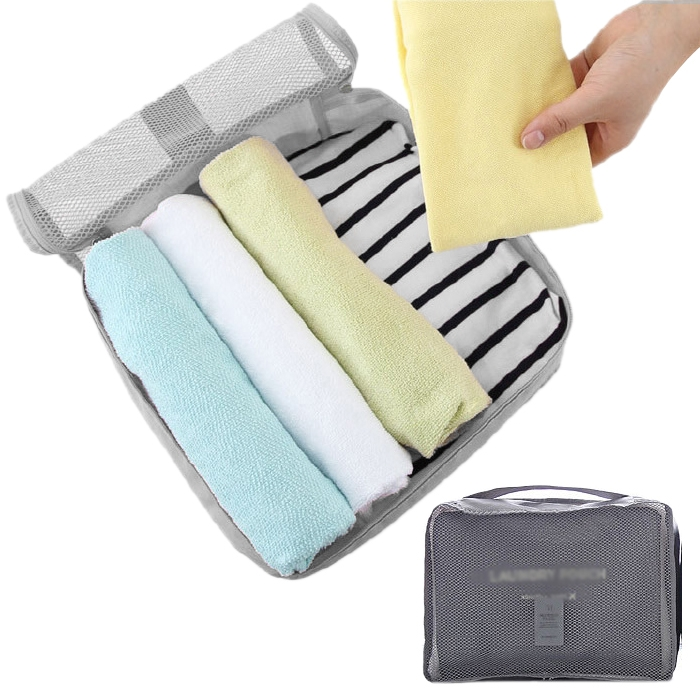 PortableTravel Shirt Laundry Pouchl Clothes Organizer Storage Bag Grey