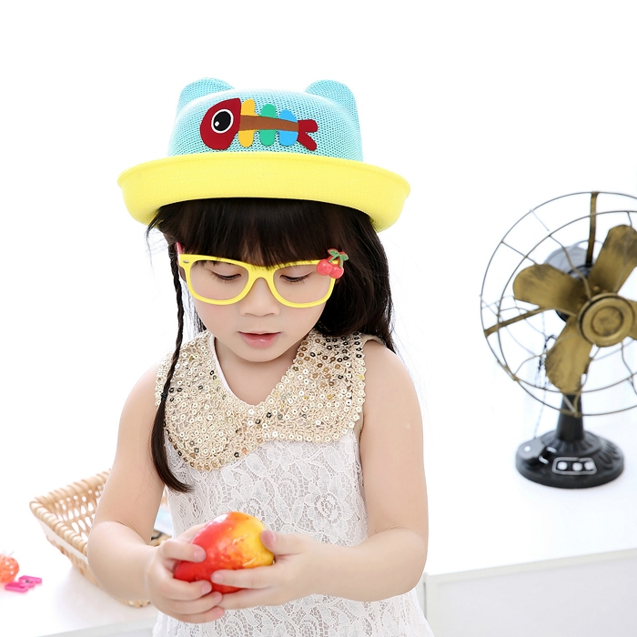 Children Boy Girls Spring Summer Beach Sun Hat Lovely Two-tone Cap