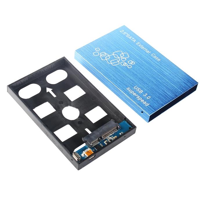 New Portable Slim USB 3.0 SATA HDD Hard Drive External Enclosure Case Box