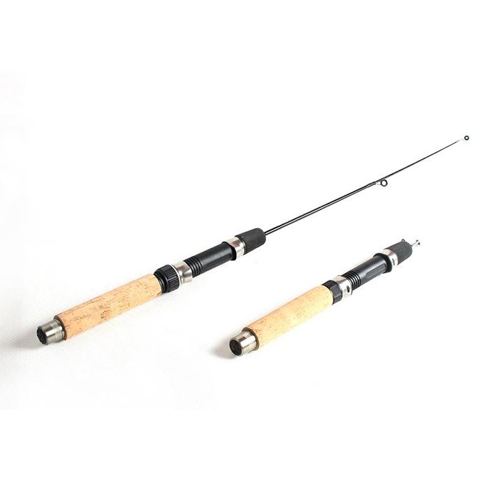 Imitation wood handle ice fishing rod sea pole imitation for Wooden fishing pole