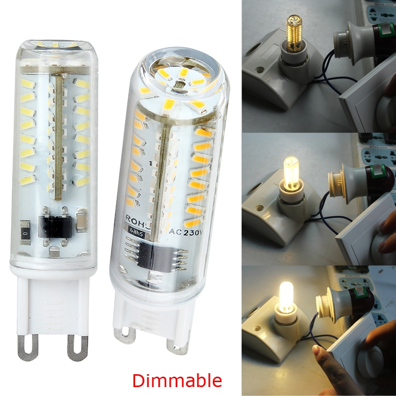 220-240V G9 6W 70LED 3014 SMD Corn Light Bulb Lamp 570 Lumen Dimmable