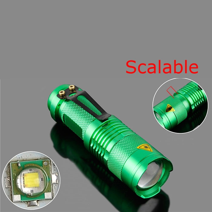 Cool Portable Mini CREE Q5 LED Zoomable 1200 Lumen Zoom Flashlight Torch Lamp AA
