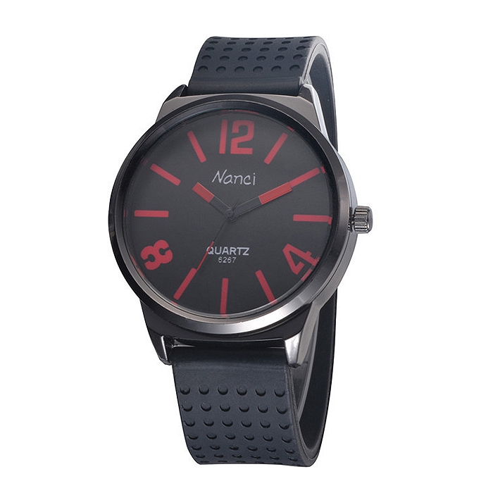 Fashion Quartz Analog Hours Clock Dial Silicone Unisex Wrist Watch