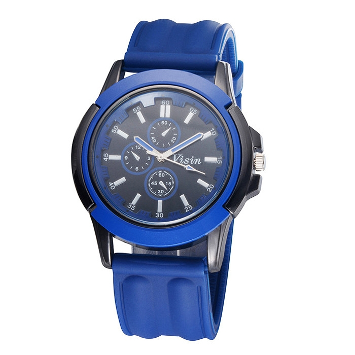 Unisex Silicone Strap Sport Quartz Wrist Watch Men Women Watch