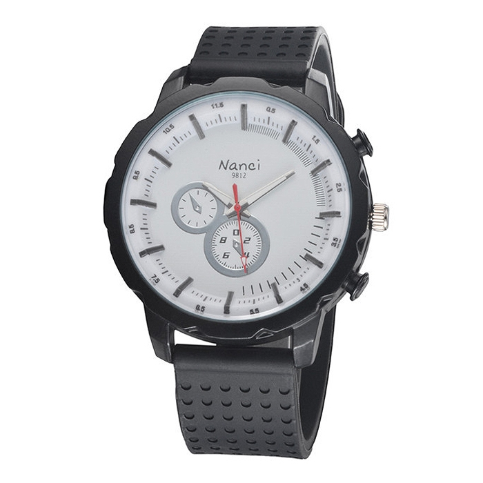 Fashion Casual Unisex Waterproof Sports Quartz Wrist Watch Alloy Dial