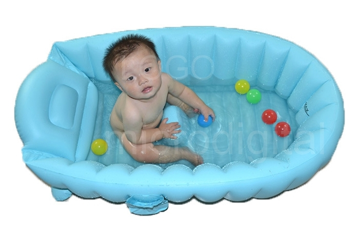 portable baby kid toddler inflatable bathtub newborn thick bath tub summer ebay. Black Bedroom Furniture Sets. Home Design Ideas